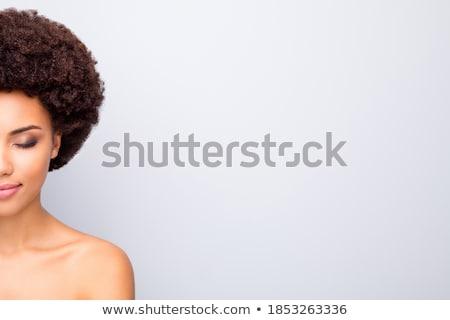 Hälfte Gesicht schönen african Stock foto © deandrobot