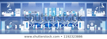 Cartoon set of backgrounds - chemical laboratory. Stock photo © RAStudio