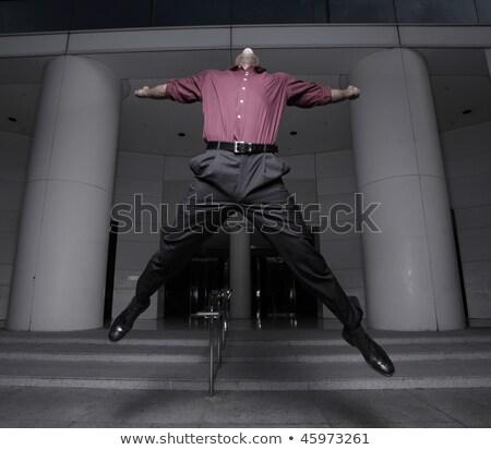África hombre de negocios insólito traje jóvenes sombrero Foto stock © deandrobot
