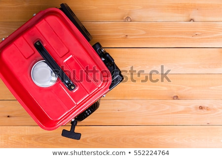 Red petrol driven generator viewed from above stock photo © ozgur