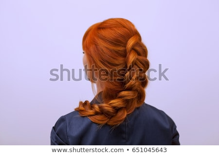 Beautiful girl with thick french braid Stock photo © svetography