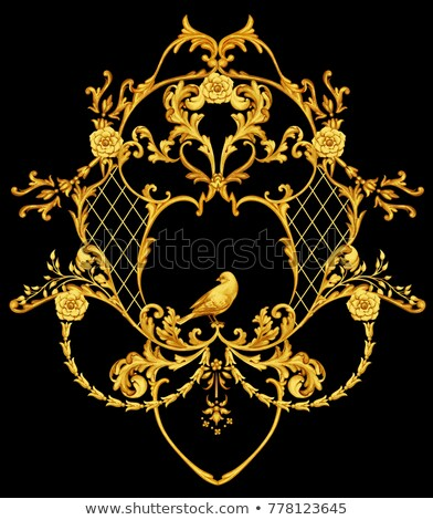 Simétrico padrão dourado rosas brilhante ouro Foto stock © blackmoon979