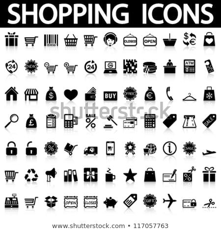 ショッピングカート ウォレット 孤立した 黒 白 お金 ストックフォト © jordanrusev