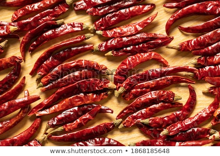 Dried Peppers Lined Up Stock photo © icemanj