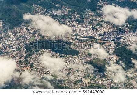 aerial of town of Maceio in Brasil under cloudy sky Stock photo © meinzahn