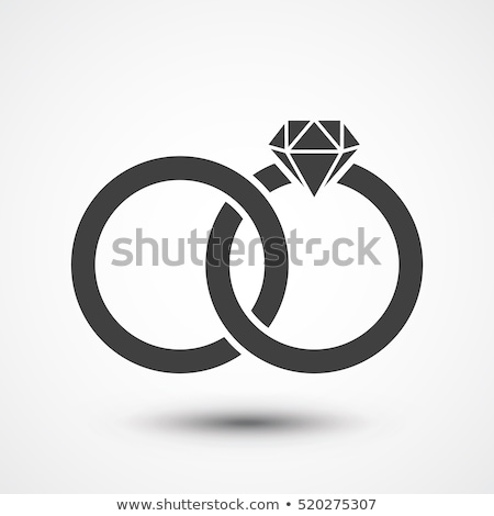 Wedding Ring Icon Isolated. Jewels Concept. Stock photo © robuart
