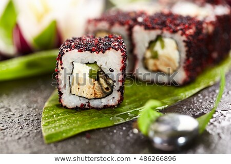 vliegen · vis · maki · sushi · gerookt - stockfoto © monkey_business