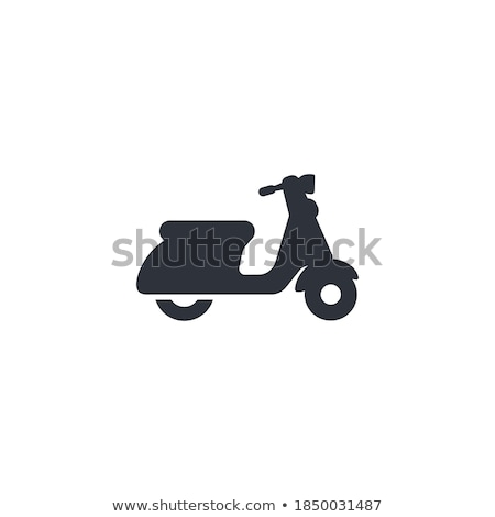 Siluet siyah grunge texture yol bisiklet Stok fotoğraf © biv