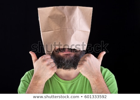 ignorance is bliss   man likes his eyes and head being covered stock photo © lightkeeper