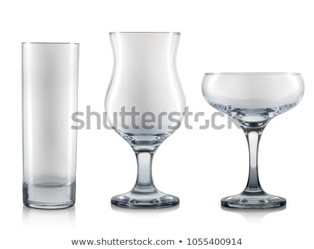 Set of empty glasses isolated on white background with clipping  Stock photo © kayros