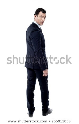casual man looking back over his shoulder Stock photo © feedough
