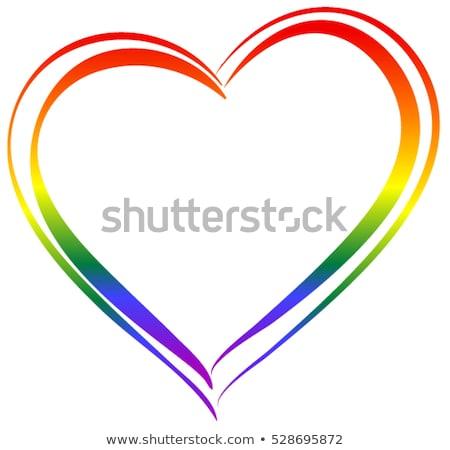 Lgbt Rainbow Heart Symbol Of Love Vector Illustration Alexey