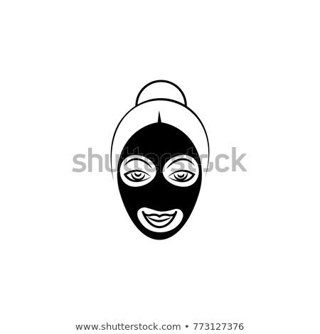 hermosa · spa · mujer · belleza · máscara · tocar - foto stock © doddis