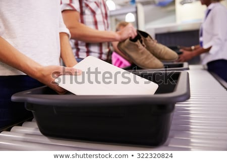 Stock photo: Airport security scanner