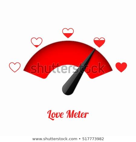 Liefde creatieve valentijnsdag foto snelheidsmeter harten Stockfoto © Fisher