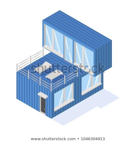 дома икона фотография изометрический коттедж недвижимости Сток-фото © shai_halud