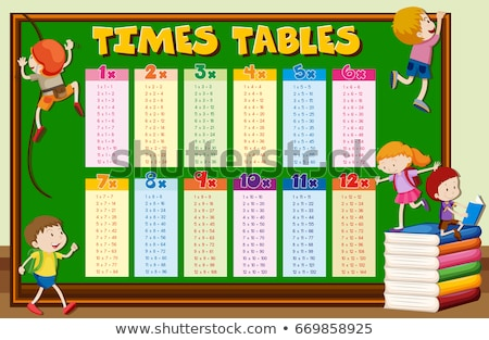 Times tables with kids climbing on board Stock photo © bluering