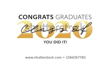 karty · szablon · gratulacje · słowo · ilustracja · papieru - zdjęcia stock © bluering