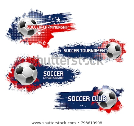 Soccer championship. Emblem template with football ball. Design  Stock photo © masay256