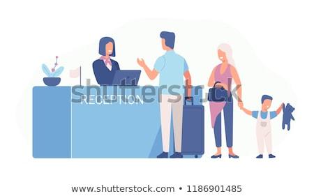 歓迎 · ベクトル · スタイル · デザイン · オフィス · 職場 - ストックフォト © curiosity
