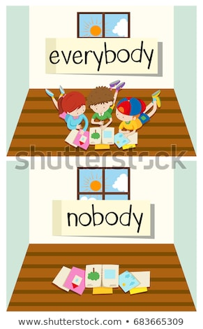 Opposite word for everybody and nobody Stock photo © bluering