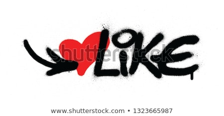 sprayed graffiti leaking heart in red on white Stock photo © Melvin07