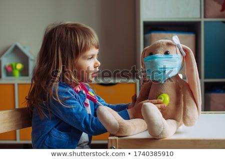 oynayan · çocuklar · doktorlar · üç · gülen · çocuklar · tıbbi - stok fotoğraf © lightfieldstudios