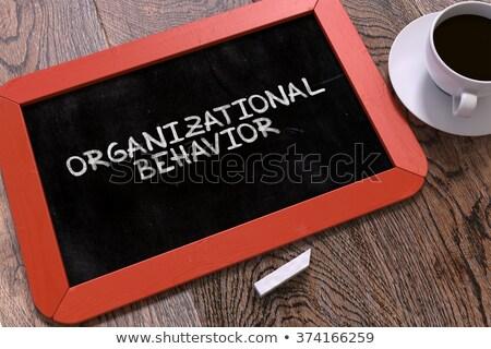 Organizational Behavior Concept Hand Drawn on Chalkboard. Stock photo © tashatuvango