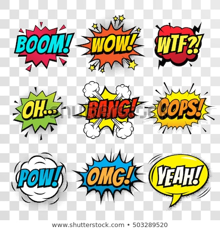 wow comic word Stock photo © studiostoks