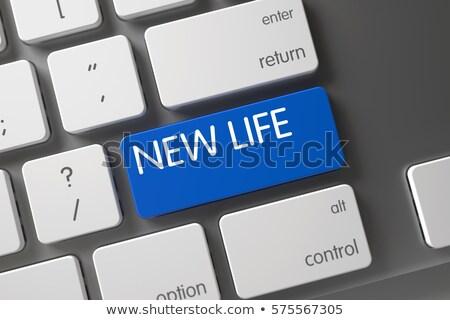 dream job closeup of blue keyboard key 3d stock photo © tashatuvango