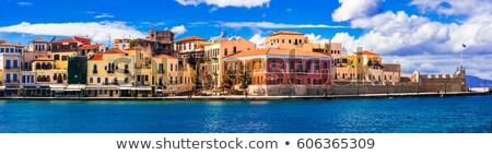 Colorful Greece series -  venetian Chania town old town, Crete island. Stock photo © Freesurf