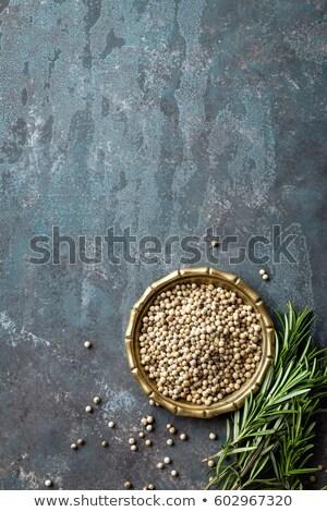 Witte peper vers rosmarijn culinair ingrediënten Stockfoto © yelenayemchuk