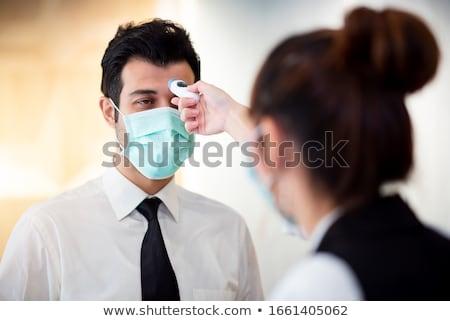 Kliniczny termometr odizolowany biały ilustracja tle Zdjęcia stock © make