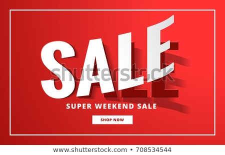 sale poster backgorund in red with sticker style Stock photo © SArts