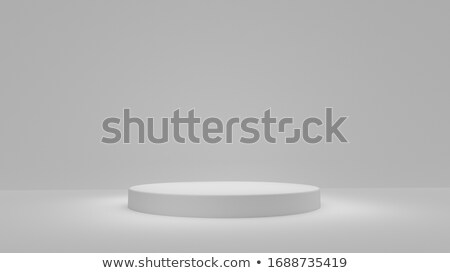Stockfoto: Witte · grijs · cilinder · podium · drie · rangschikken