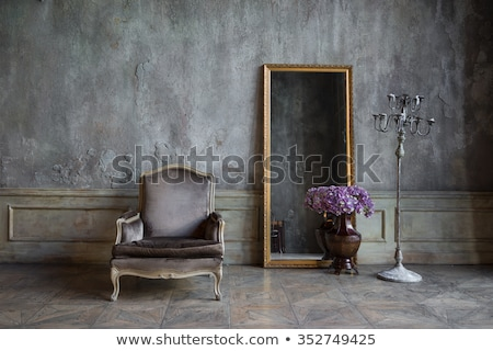 antique chair with grunge style background stock photo © sandralise