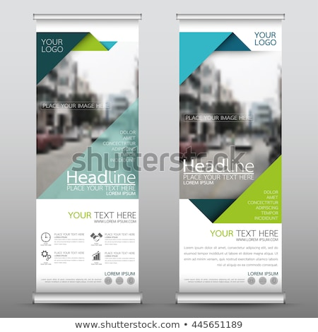 modern green roll up banner standee design vector stock photo © SArts