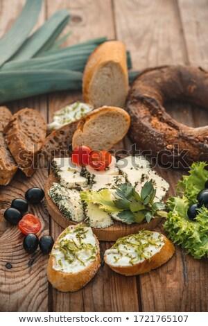 トースト 粉チーズ オリーブ 焼いた パン グレー ストックフォト © Digifoodstock