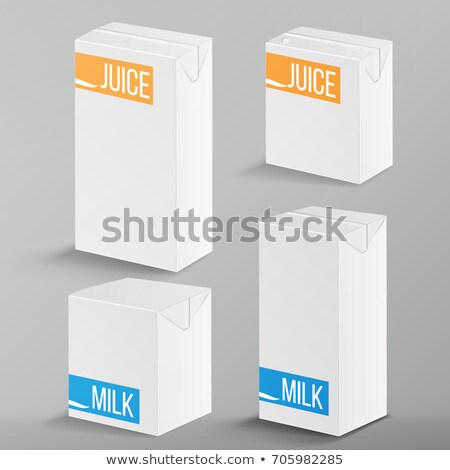Milk Package Vector Mock Up. Realistic Illustration. Blank Box 1000 ml. Milk Template Retail Package Stock photo © pikepicture