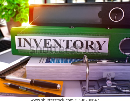 Anneau inventaire travail table Photo stock © tashatuvango