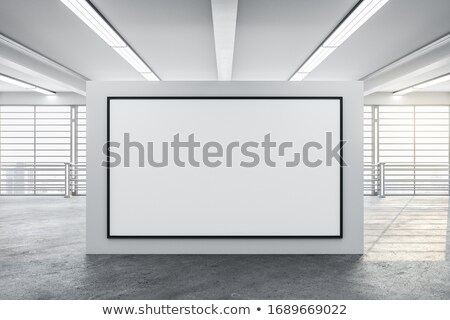 lege · witte · kamer · tentoonstelling · 3d · illustration · abstract - stockfoto © user_11870380