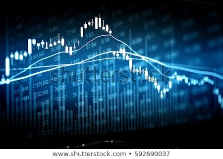 üzleti grafikon lefelé piros nyíl csökkenés év Stock fotó © Oakozhan