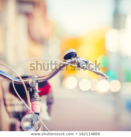 Vintage ciudad moto colorido retro luz Foto stock © blasbike