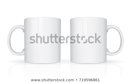 white mug vector 3d realistic ceramic coffee tea cup isolated on white classic office cup mock up stock photo © pikepicture