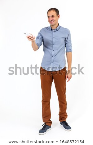 Man with TV remote Stock photo © IS2