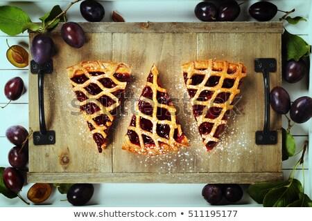 śliwka jam mały żywności śniadanie deser Zdjęcia stock © Digifoodstock
