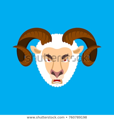 zły · koza · cartoon · skok · gospodarstwa · owiec - zdjęcia stock © popaukropa