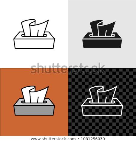 vector Tissue box flat icon Stock photo © MarySan