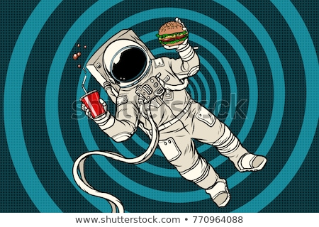 Astronaut with a Burger and drink Stock photo © studiostoks