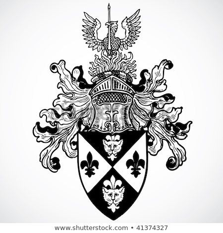 Helmet Coat of Arms Heraldic Crest Stock photo © Krisdog